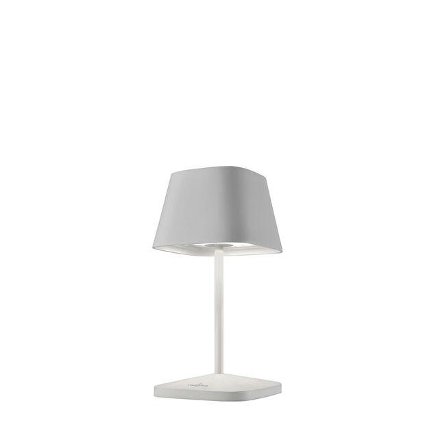 Akku-Leuchte Neapel, 20 cm, Weiß, , large