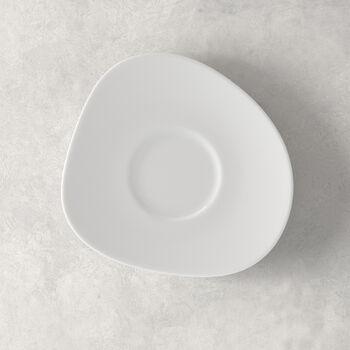 Organic White Kaffee-Untertasse, weiß, 17,5 cm