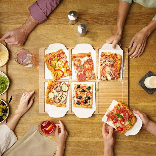 Pizza Passion rechteckige Party-Platte, , large