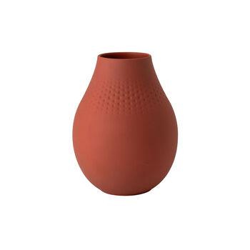 Manufacture Collier terre hohe Vase, Perle, 16x16x20cm