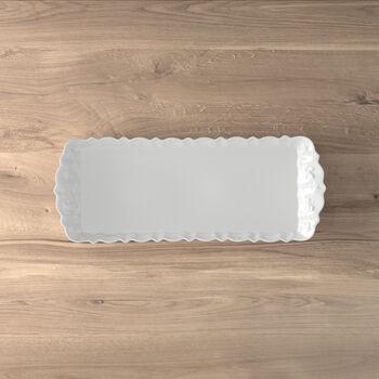 Toy's Delight Royal Classic Königskuchenplatte, weiß, 40 x 16 cm
