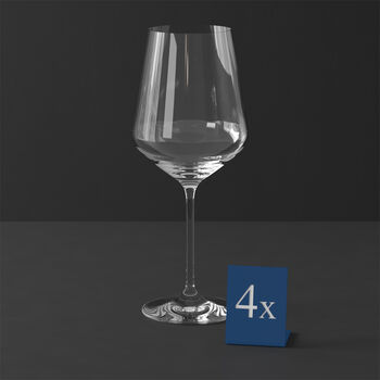 La Divina Bordeauxkelch, 4 Stück.