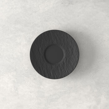 Manufacture Rock Espresso-Untertasse, schwarz/grau, 12 x 12 x 2 cm