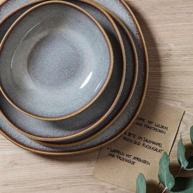 Lave Beige kleine flache Schale, beige, 22 x 21 x 4,2 cm, , large