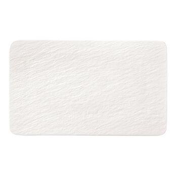Manufacture Rock Blanc rechteckiger Multifunktionsteller, weiß, 28 x 17 x 1 cm