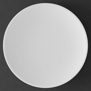 MetroChic blanc Platzteller und Tortenplatte, Durchmesser 33 cm, Weiß