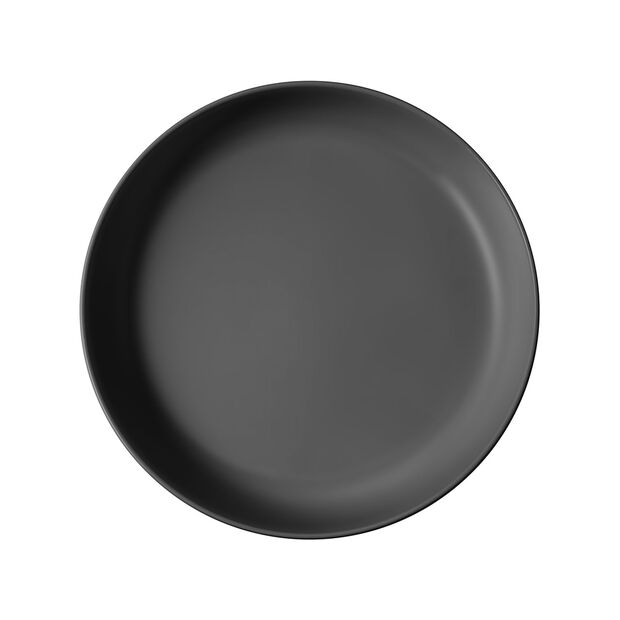 Iconic flache Schale, schwarz, 24 x 4 cm, 1,1 l, , large
