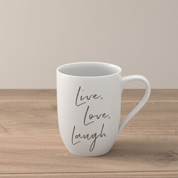 "Statement Becher ""Live Love Laugh"""