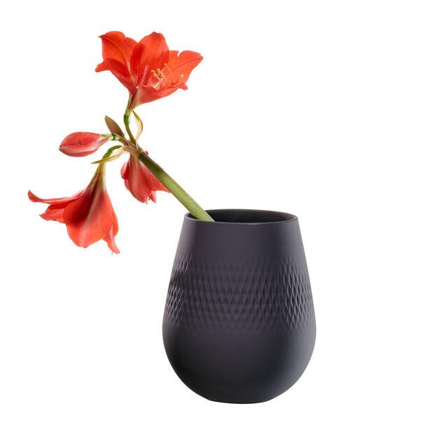 Manufacture Collier noir Vase Carré klein 12,5x12,5x14cm, , large