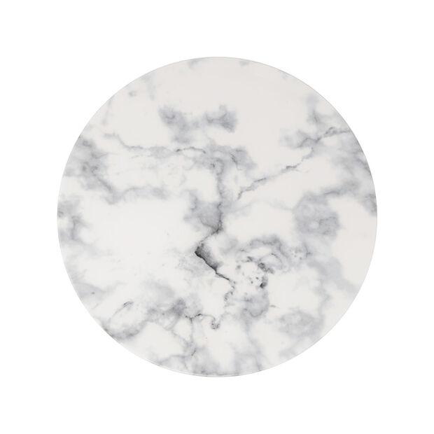 Marmory Speiseteller White, 27x27x1,5cm, , large