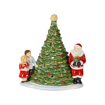 Christmas Toy's Santa am Baum, grün/bunt, 20 x 17 x 23 cm