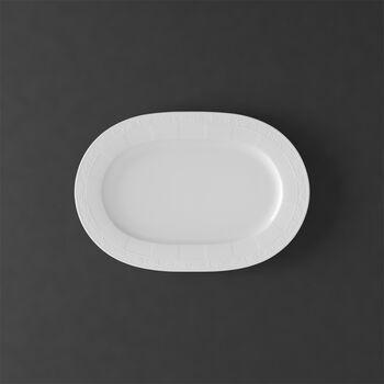 White Pearl Platte oval 35cm