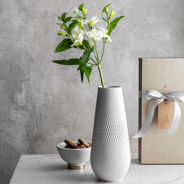 Manufacture Collier blanc Vase Carré hoch 11,5x11,5x26cm, , large