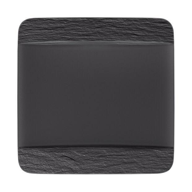 Manufacture Rock quadratischer Speiseteller, schwarz/grau, 28 x 28 x 2 cm, , large