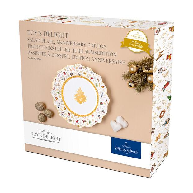 Toy's Delight Frühstücksteller, Jubiläumsedition, bunt/gold/weiß, , large