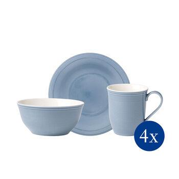 Color Loop Horizon Frühstücks-Set, himmelblau, 12-teilig