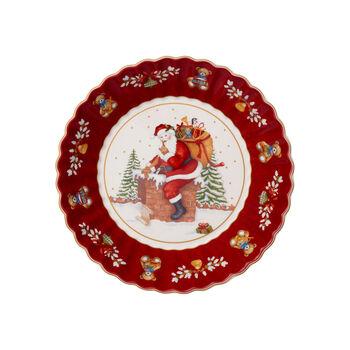 Toy's Fantasy große Schale Santa auf Dach, rot/bunt, 25 x 25 x 5 cm