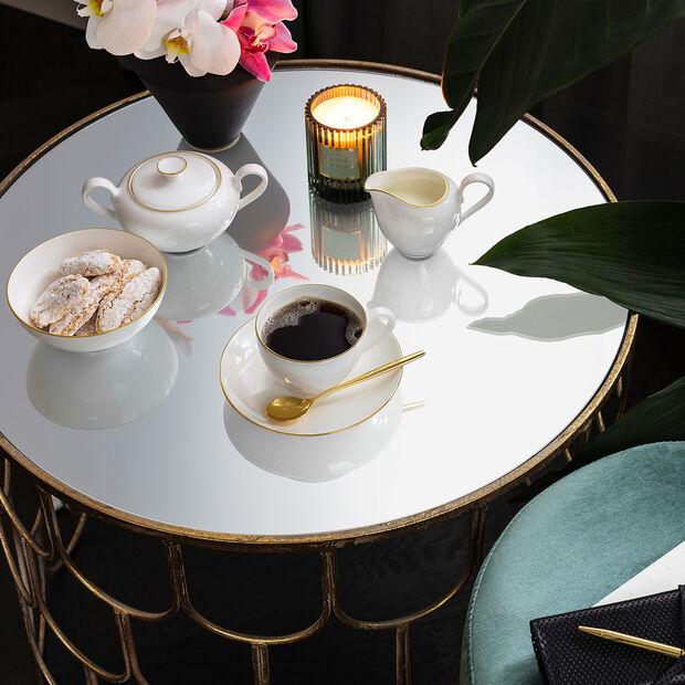 Anmut Gold Kaffeetasse, Weiß/Gold, , large