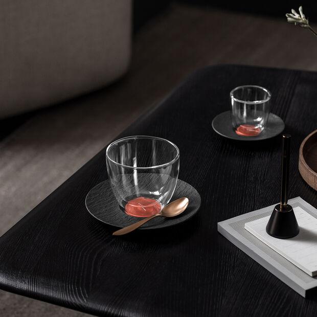 Manufacture Rock Glow Café au lait-Untertasse, kupfer/schwarz, 17 x 17 x 2 cm, , large