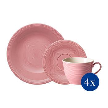 Color Loop Rose Kaffee-Set, rose, 12-teilig