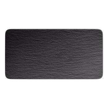 Manufacture Rock rechteckige Servierplatte, schwarz/grau, 35 x 18 x 1 cm