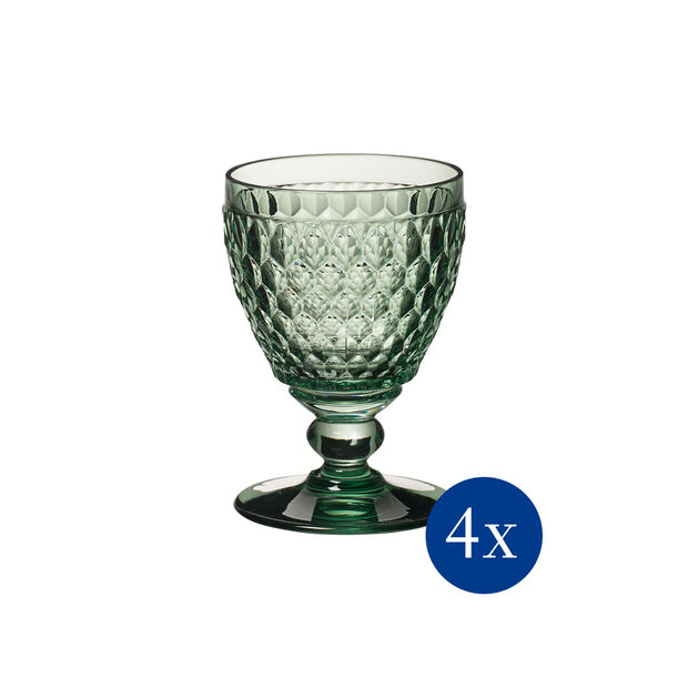 Boston Coloured Weißweinglas, 4 Stück, Grün, , large