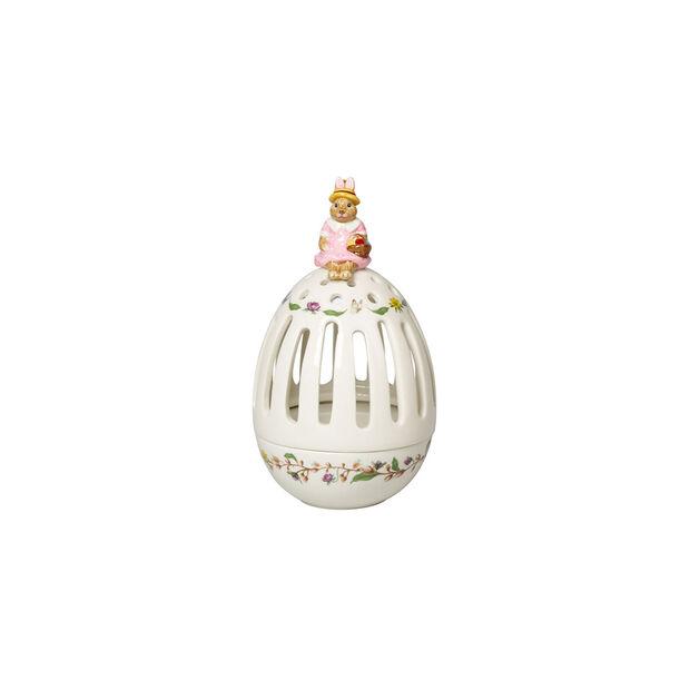Bunny Tales Teelichthalter-Ei Anna, 16 cm, bunt, , large