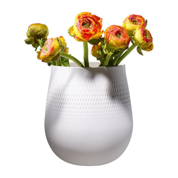 Manufacture Collier blanc Vase Carré groß 20,5x20,5x22,5cm, , large