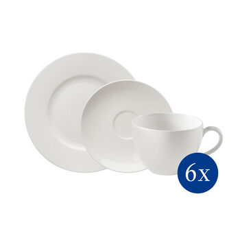 vivo   Villeroy & Boch Group Basic White Kaffee-Set 18-teilig