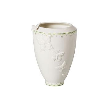 Colourful Spring hohe Vase, weiß/grün