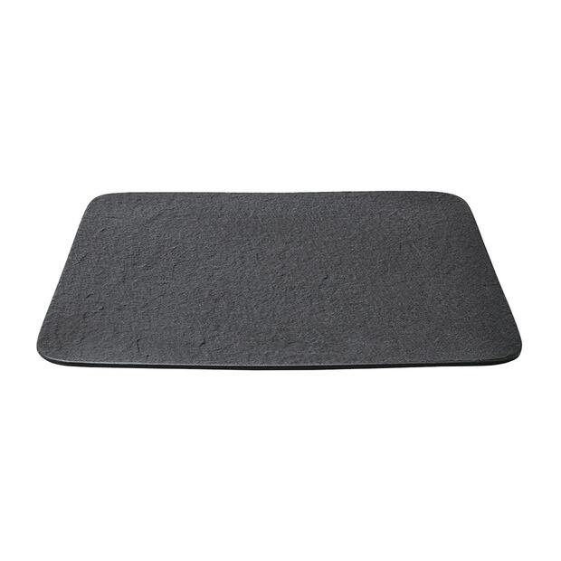Manufacture Rock quadratische/r Servierplatte/Gourmetteller, schwarz/grau, 32,5 x 32,5 x 1,5 cm, , large