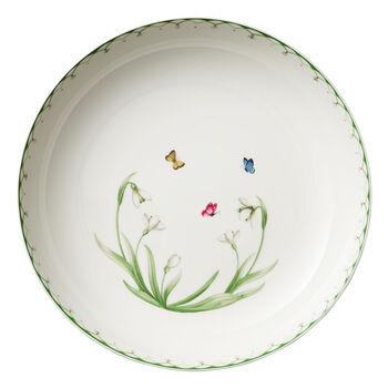 Colourful Spring große Salatschüssel, 5,2 l, weiß/grün
