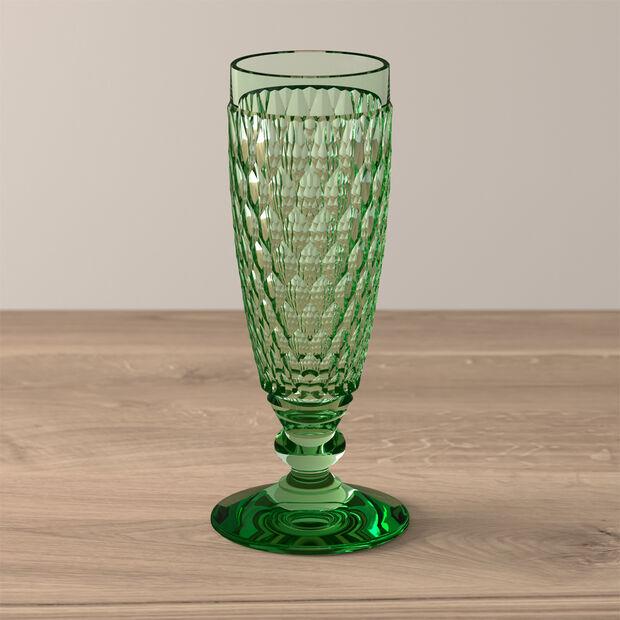 Boston Coloured Sektglas Green, , large
