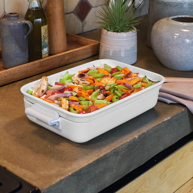 Clever Cooking rechteckige Backform mit Deckel 30 x 20 cm, , large