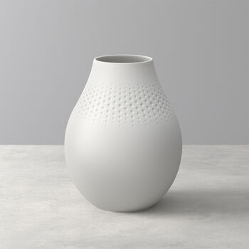 Manufacture Collier blanc Vase Perle hoch 16x16x20cm