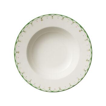 Colourful Spring tiefer Teller, 25 cm, 456 ml, weiß/grün