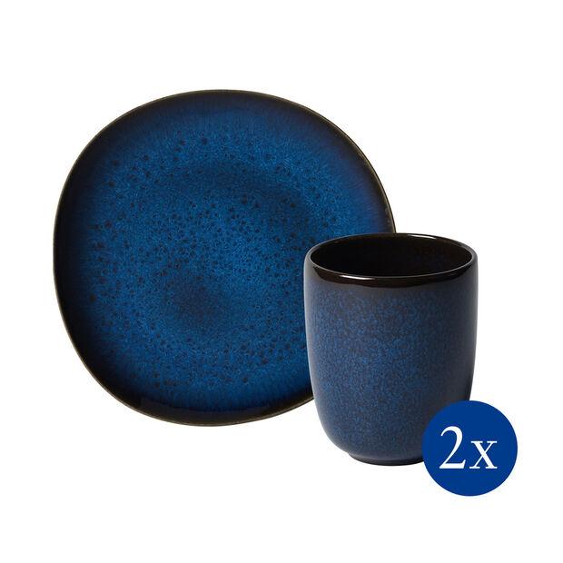 like.by Villeroy & Boch Lave Frühstücks-Set, 4-teilig, für 2 Personen, Blau, , large