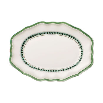 French Garden Green Line ovale Platte