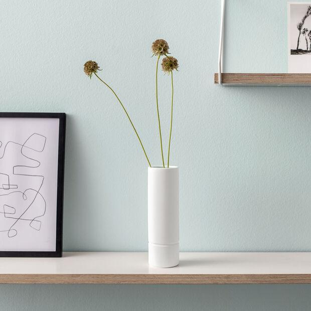it's my home große Vase, 6x20 cm, Grün/Weiß, , large