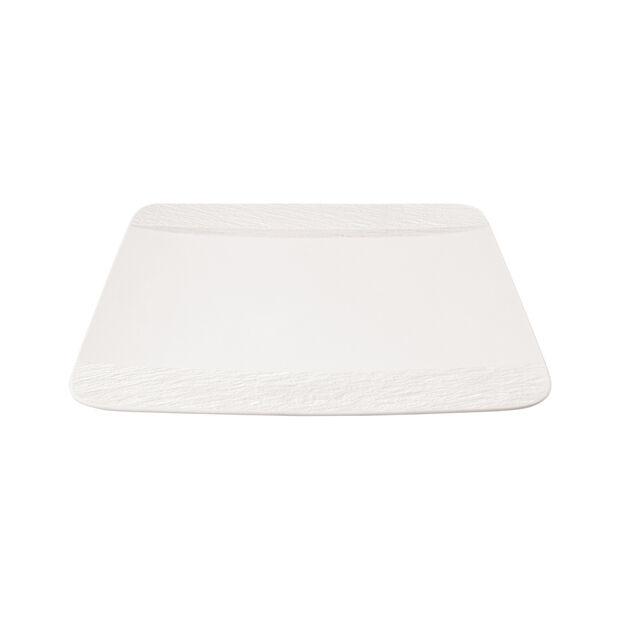Manufacture Rock Blanc quadratischer Speiseteller, weiß, 28 x 28 x 2 cm, , large