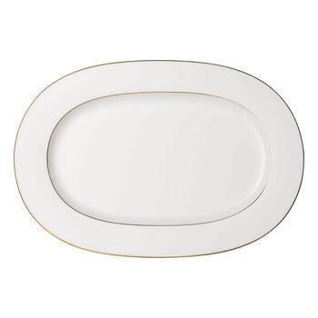 Anmut Gold ovale Platte, Länge 41 cm, Weiß/Gold