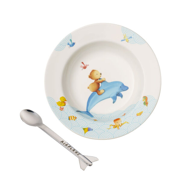 Happy as a Bear Kinder Essen-Set, 2tlg, , large