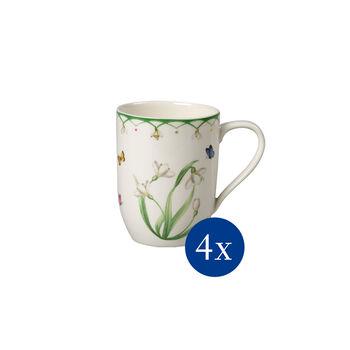 Colourful Spring Kaffeebecher, Blumen, 340 ml, 4 Stück