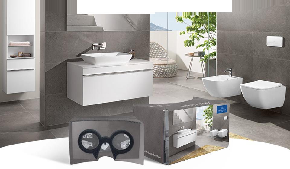 VR Cardboard - Gestalten Sie Ihr Bad selbst - Villeroy & Boch