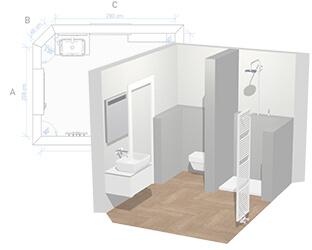 Planungsvorlage Kleines Bad Dusche