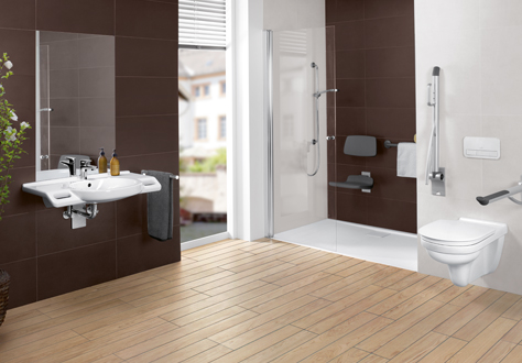barrierefreies bad einrichten mit villeroy boch. Black Bedroom Furniture Sets. Home Design Ideas