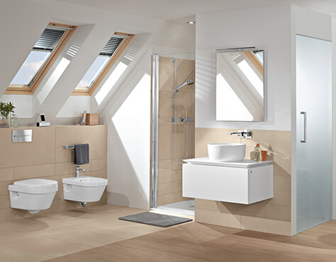Bad mit Dachschräge clever nutzen - Villeroy & Boch
