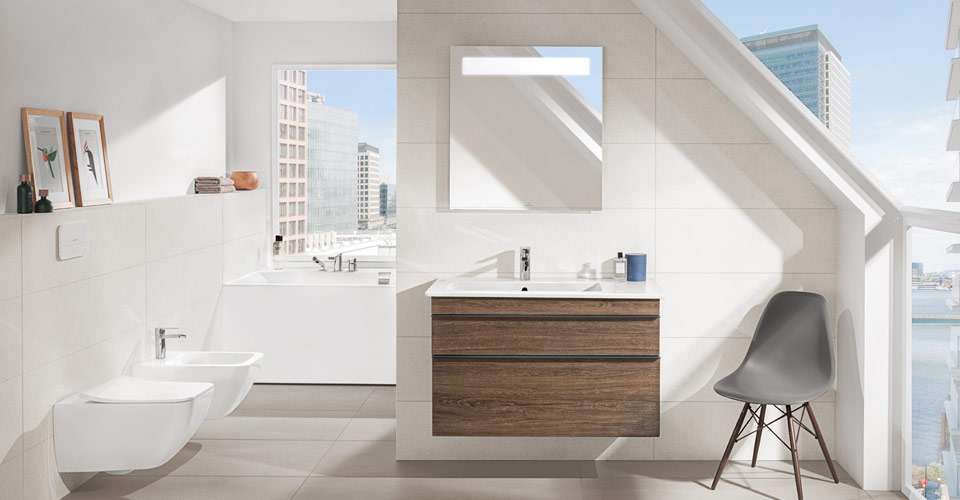 Bad mit dachschr ge clever nutzen villeroy boch - Salle de bain sous les combles idees ...