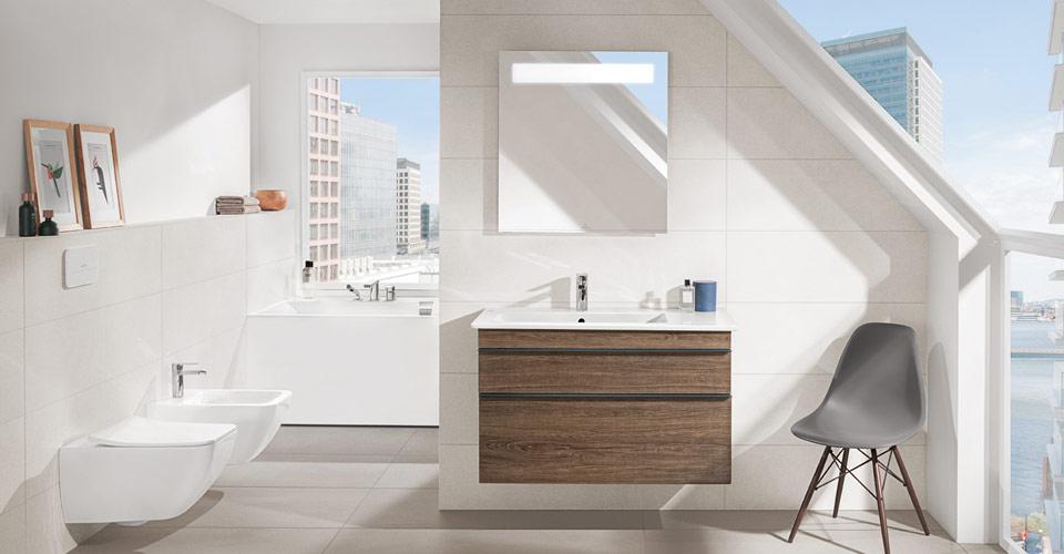 Bad mit dachschr ge clever nutzen villeroy boch - Plan salle de bain sous comble ...