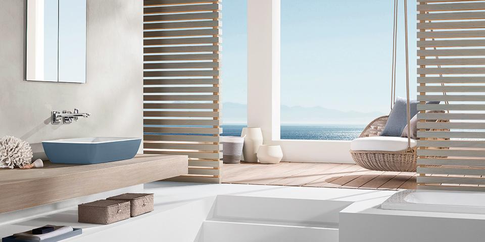 Farbgestaltung im badezimmer mit villeroy & boch